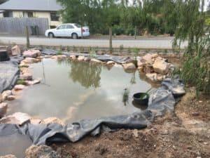 Wildlife Pond under construction