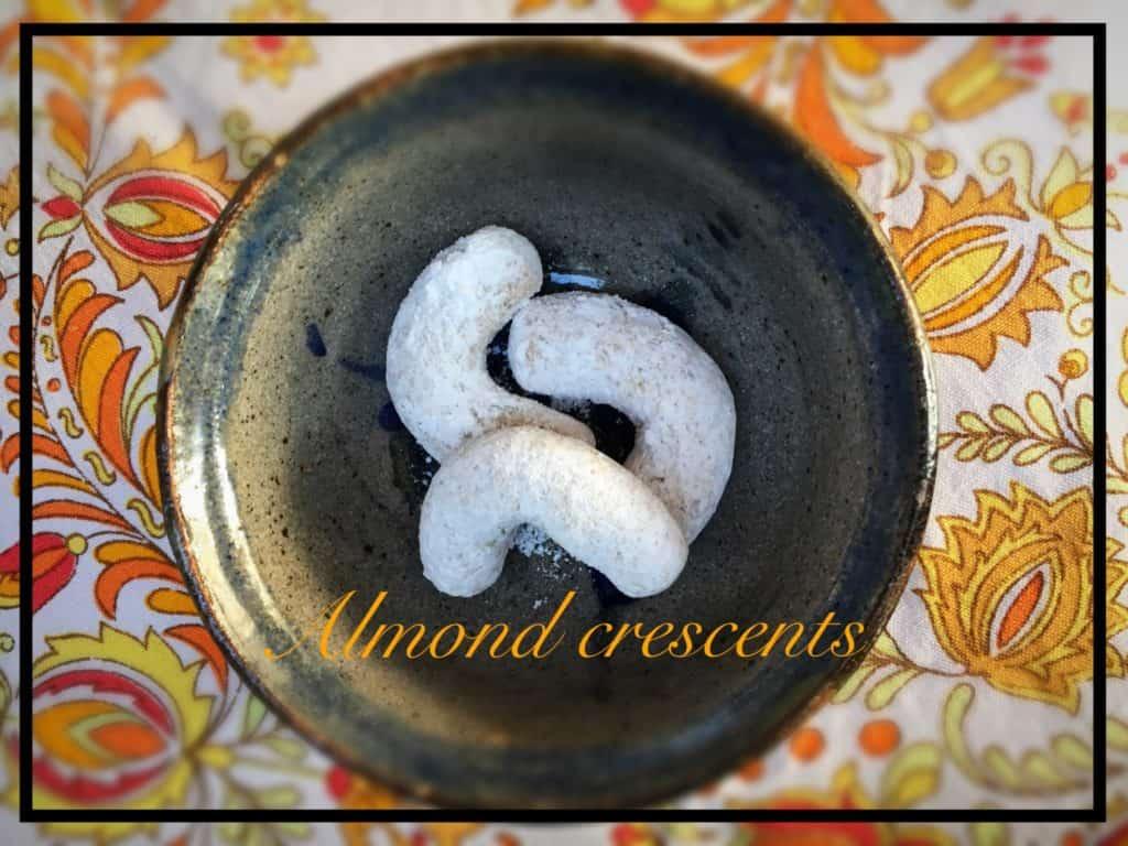 Almond crescent- Vanilkové rohličky