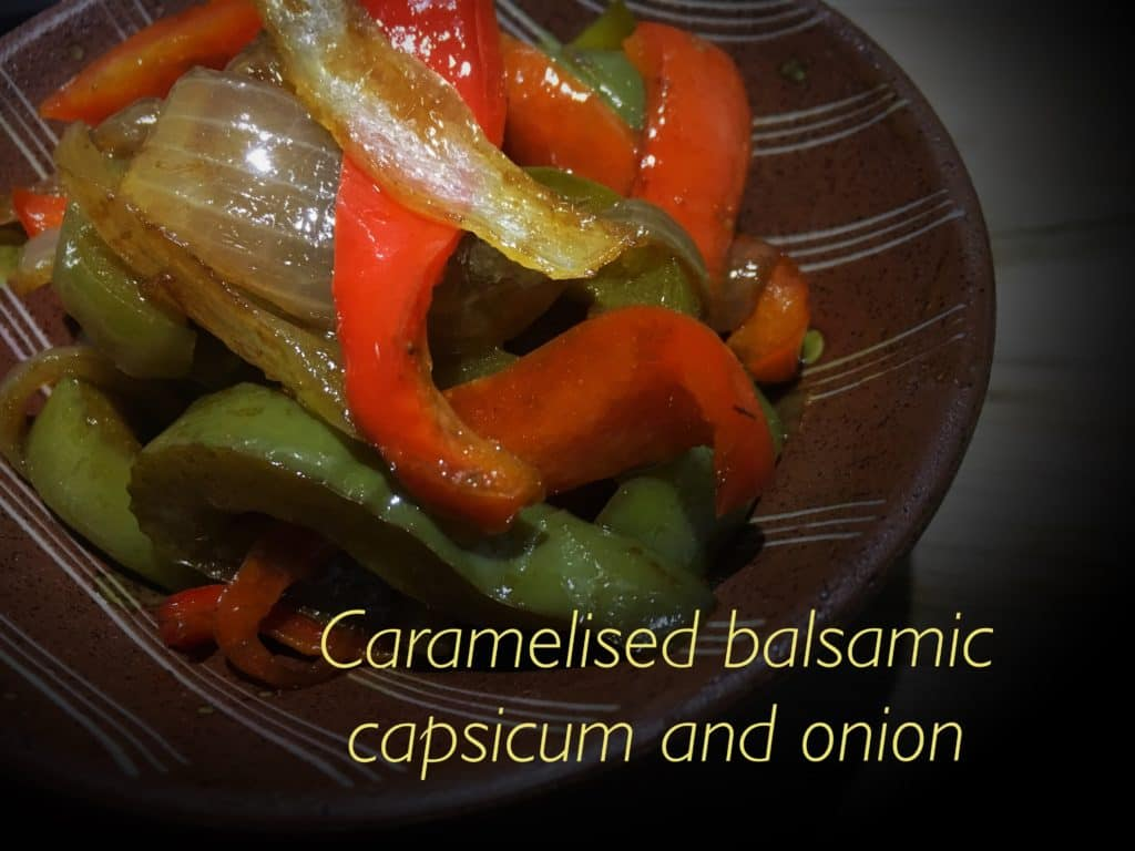 Caramelised Balsamic Capsicum and Onion