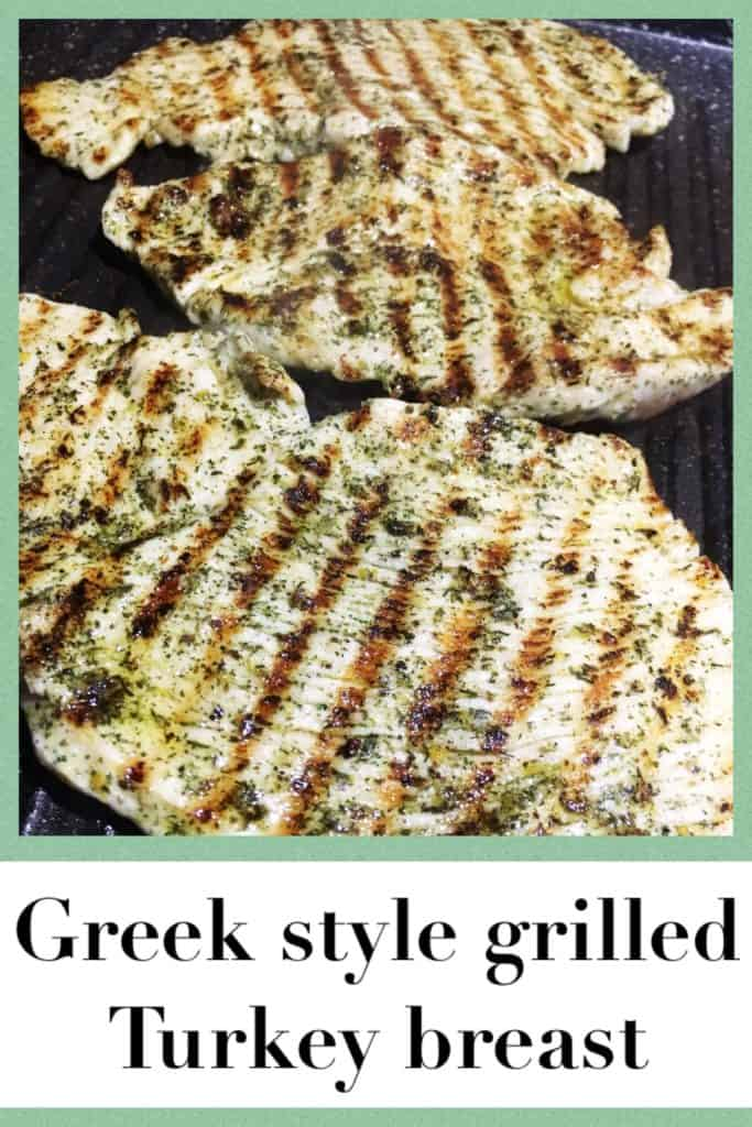 Greek style grilled Turkey breasts