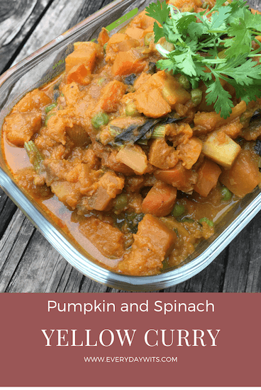 Pumpkin and Spinach Yellow Curry