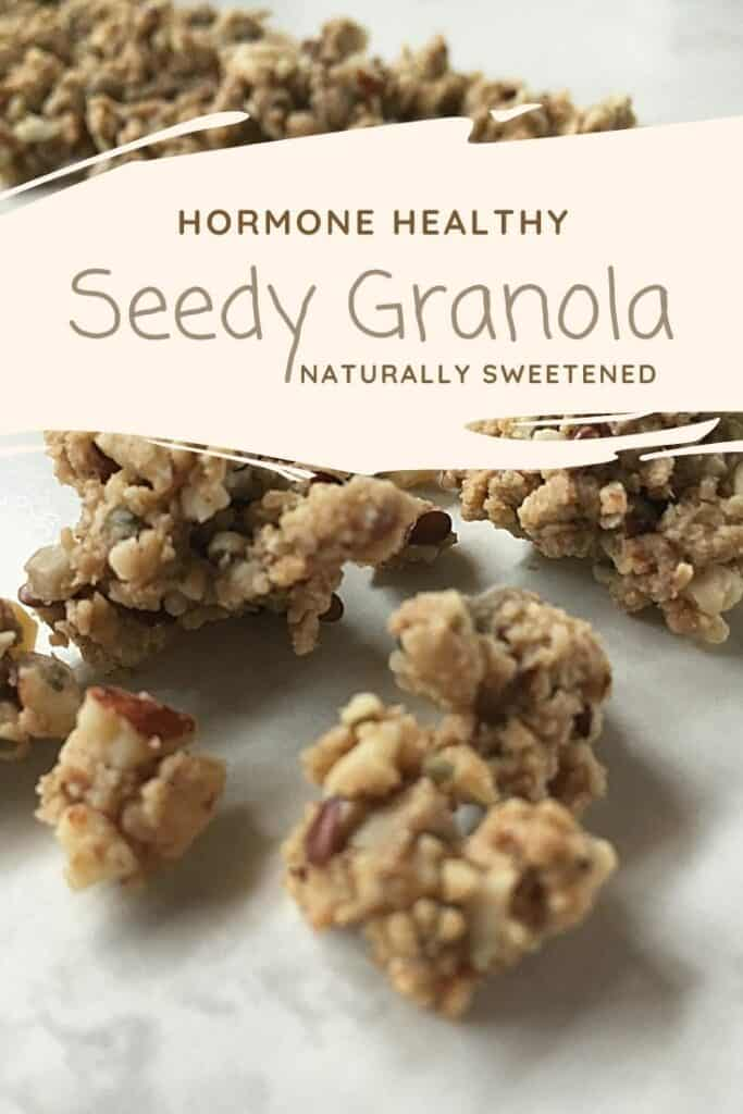 Hormone healthy seedy granola- naturally sweetened- homemade