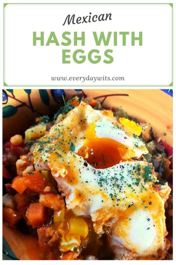 Mexican hash with eggs